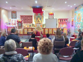 Students practicing at Buddha House, Australia, July 2015. Photo courtesy of Buddha House.