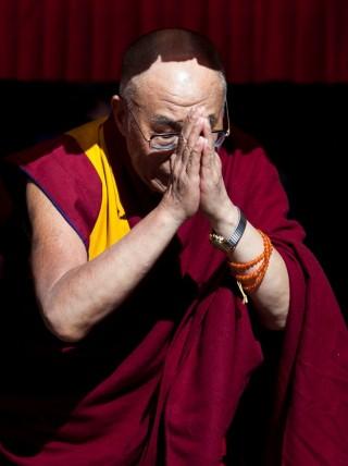 His Holiness the 14th Dalai Lama at Chenrezig Institute, Eudlo, Queensland, Australia, June 2011. Photo by Bonnie Jenkins.