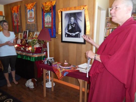 Ven. Tenzin Chogkyi at Gendun Drubpa Buddhist Centre, B.C., Canada, July 2015