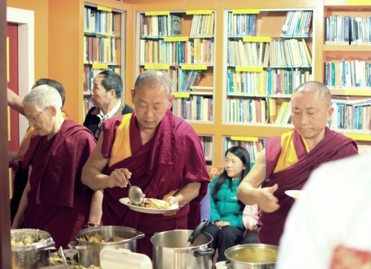 Lunch at Dorje Chang, New Zealand, July 2015