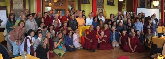 FPMT Europe regional meeting group photo, Maitreya Instituut, Loenen, Netherlands, July 2015. Photo by Ven. Roger Kunsang.