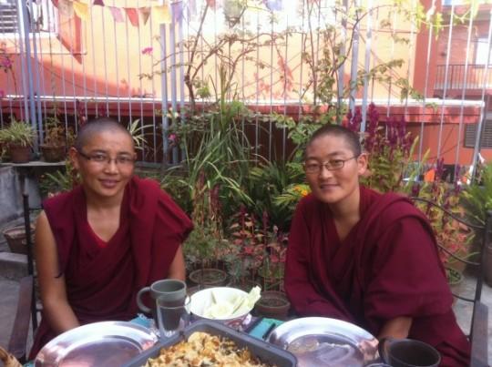 Vens. Jangchub Gyalmo and Namdrol Phuntsok, October 2012.
