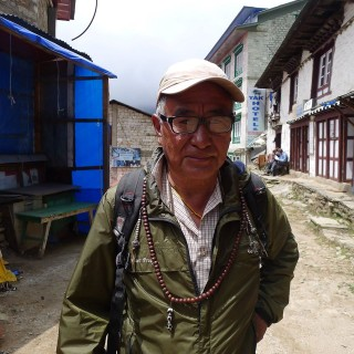 Lama Zopa Rinpoche's brother, Sangay Sherpa in Lawudo. Photo by Ven. Katy Cole.