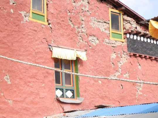 Extensive damage to the Lawudo Gompa was sustained due to the 7.9 magnitude earthquake and subsequent aftershocks of April.