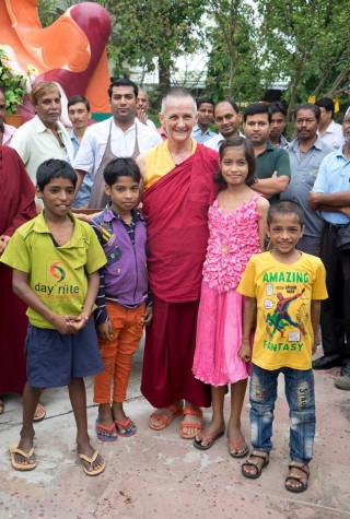 Ven. Trisha Labdron served Root Institute for 14 years, Bodhgaya, India. Photo courtesy of Root Institute.