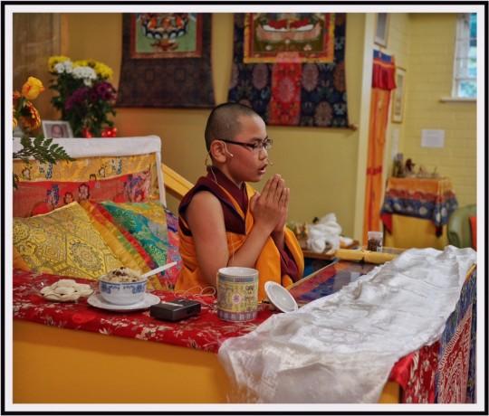 Tenzin Phuntsok Rinpoche, Hayagriva Buddhist Centre, Perth, Australia, August 2015. Image courtesy of Hayagriva Buddhist Centre.