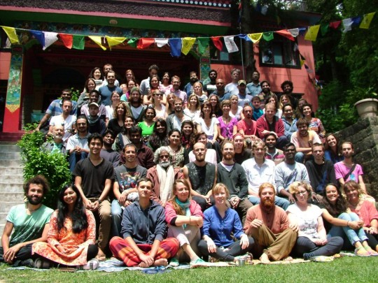 Introduction to Buddhism Course with Shahar Tene, Tushita Meditation Centre, Dharamsala, India, May 2015. Photo courtesy of Tushita Meditation Centre.