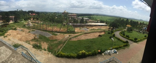 View of the property where the new debate courtyard is being built for the monks of Sera Mey Monastery.