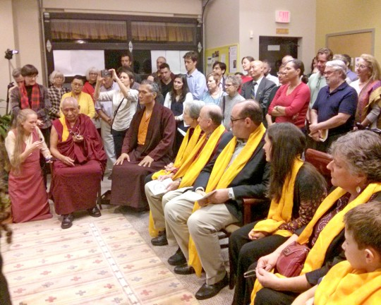 Geshe Tenzin Dorje spekaing about Jim Blumenthal's connection to Buddhism