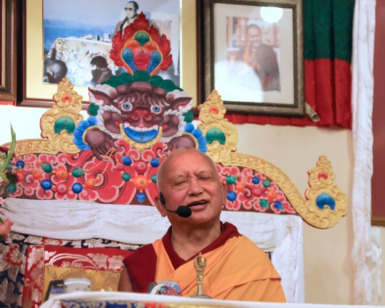 Lama Zopa Rinpoche at Land of Medicine Buddha, California, US, October 2015. Photo by Ven. Thubten Kunsang.