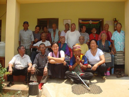 Resdidents of the Rabgayling Tibetan Settlement's elderly home.