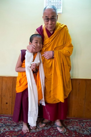 Domo Rinpoche with His Holiness the Dalai Lama.