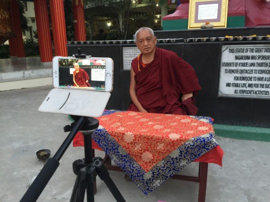 Season's Greetings from Lama Zopa Rinpoche and International Office!