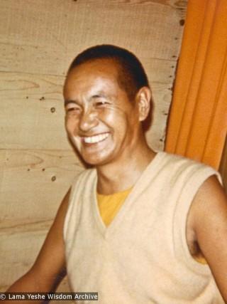 Lama Yeshe, Kopan, 1970, Photo courtesy Lama Yeshe Wisdom Archive.