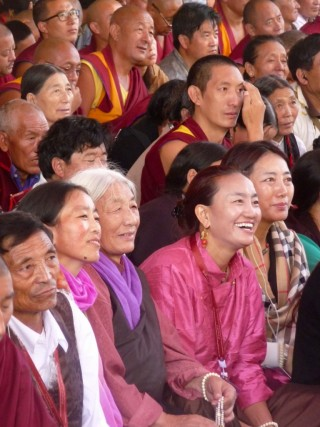 Attendees at the Jangchup Lamrim, Tashi Lhunpo Monastery, December 2015