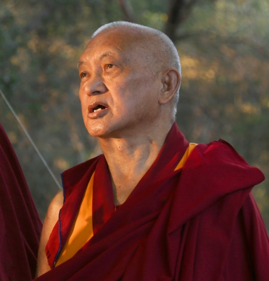 Lama Zopa Rinpoche in California, US, October 2015. Photo by Ven. Thubten Kunsang.
