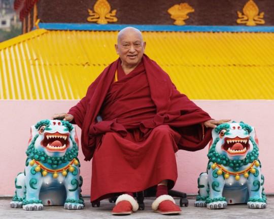 Lama Zopa Rinpoche in Tso Pema, India, February 2016. Photo by Ven. Lobsang Sherab.