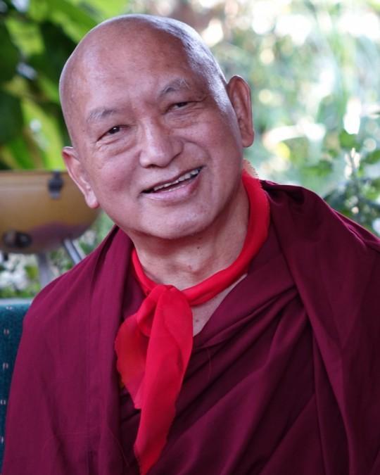 Lama Zopa Rinpoche, Sera Monastery, December 2015. Photo by Ven. Roger Kunsang.