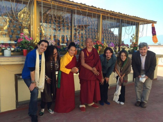 Ösel joined Lama Zopa Rinpoche and Khadro-la for lunch in Kathmandu, for lunch in celebration of Ösel's birthday.