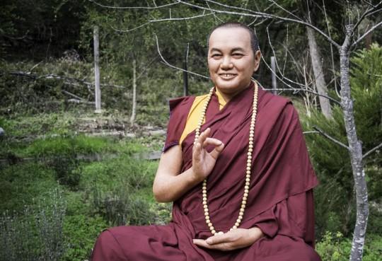 Lifelike statue of Lama Yeshe, FPMT's founder, residing now at Vajrapani Institute, CA, USA.