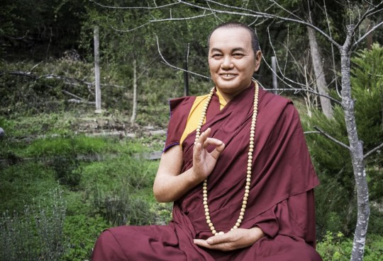 Lifelike statue of Lama Yeshe, FPMT's founder, residing now at Vajrapani Institute, CA, USA.