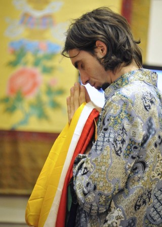 Tenzin Osel Hita at long life puja for Lama Zopa Rinpoche, Singapore, March 13, 2016. Photo by Piero Sirianni.