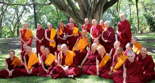 A Merit Box grant was given in 2015 for IMI Sangha to attend last year's retreats with Lama Zopa Rinpoche in the Netherlands and Mexico (pictured here).