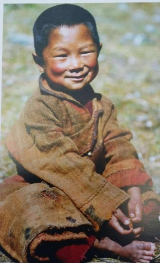 Lama Zopa Rinpoche as a young student. Rinpoche attended Rolwaling Monastery between the ages of 7-12.