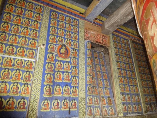 The Buddhist relics and imagery will be preserved in the rebuilding of the gompa.