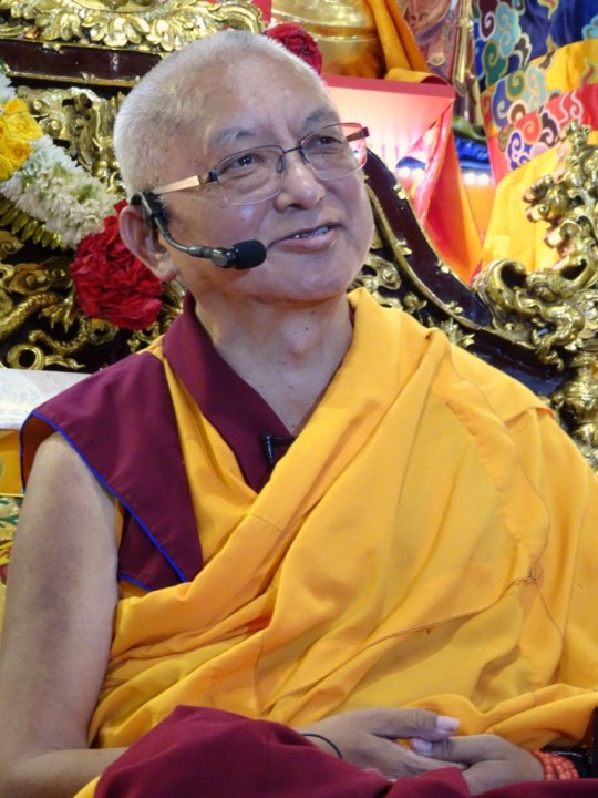 Lama Zopa Rinpoche, Singapore, March 2016. Photo by Ven. Losang Sherab.
