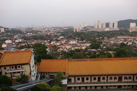 View from Kuan Yin statue pavilion, Penang, Malaysia, April 2016. Photo by Ven. Roger Kunsang.