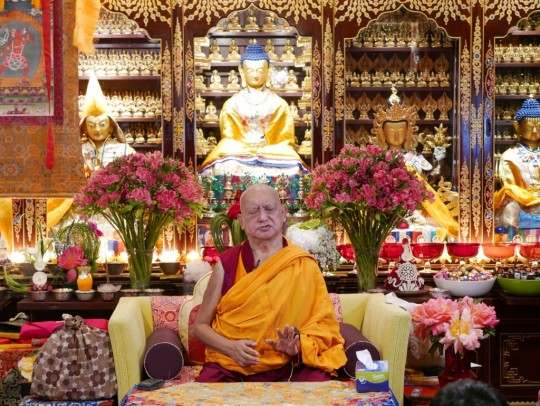 Lama Zopa Rinpoche teaching at Mahayana Buddhist Associate (Cham Tse Ling) in Hong Kong, May 2016