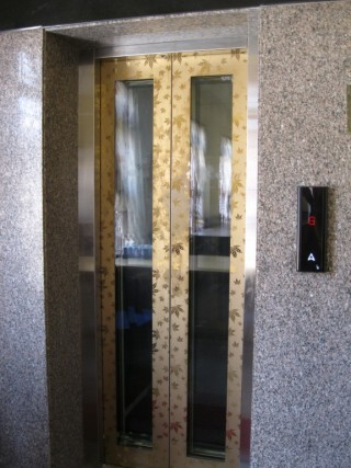 The new elevator installed at Sera Lachi.