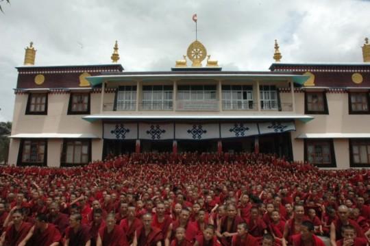 The Sera Lachi monks. Photo courtesy of the Sera Lachi Facebook page.