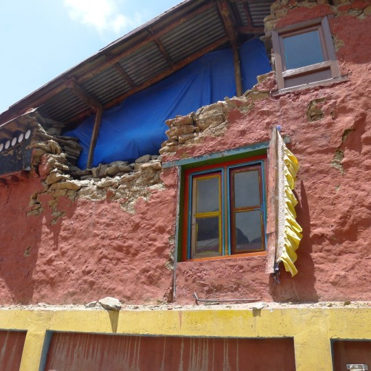 The Lawudo Retreat Centre sustained substantial damage following the April 2015 earthquake and aftershocks.