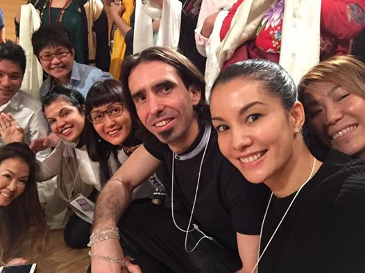 Ösel Hita with friends before greeting His Holiness the Dalai Lama at teachings in Japan. May 12, 2016. Photo courtesy of Nad Prive's Facebook page.