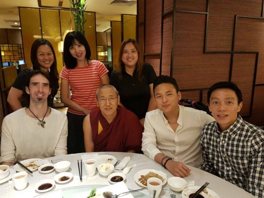 Ösel with ___, Gomo Tulku and friends in _____.