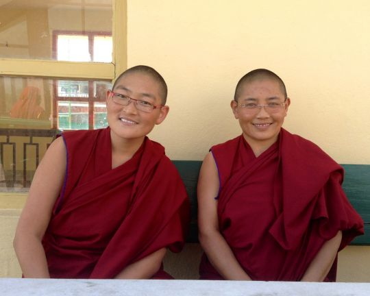 Ven. Namdrol Phuntsok and Jangchub Gyalmo at Kopan, Nepal, 2015. Photo courtesy of Kopan Monastery.