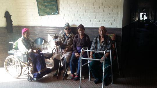 Elderly residents of home in Dharamsala.