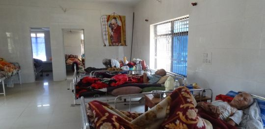 Images of His Holiness the Dalai Lama can be found throughout these homes providing comfort and blessings to the elderly Tibetan residents.