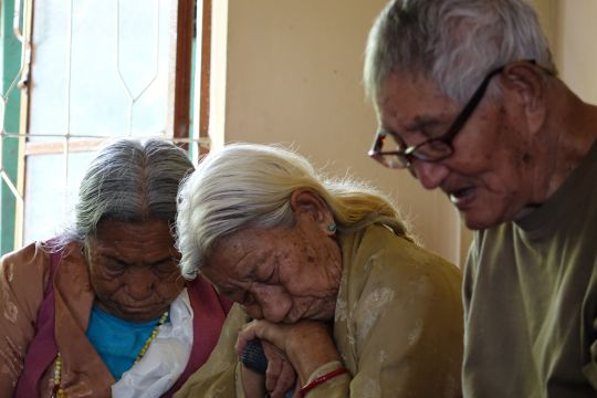 Elderly residents of Lugsam Samduling Home for the Aged and Disabled.