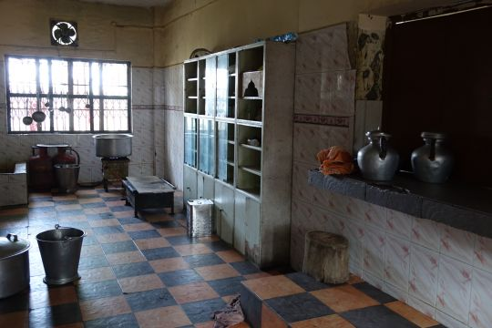 The kitchen facility.
