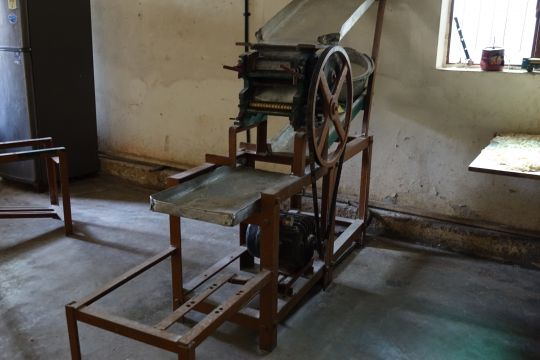Antique equipment is used at this home which has very little means to operate properly.