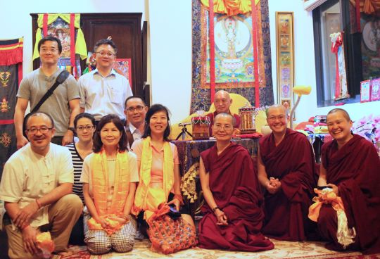 Rinpoche meets with board of FPMT Taiwan, May 2016. Photo by Ven. Losang Sherab.