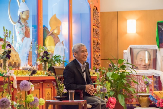 Dr. Thubten Jinpa was the first speaker for Maitripa College's Mindfulness and Compassion Initiative in 2015. Photo by Chris Majors.