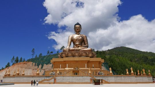 The Buddha Dordenma statue in Thimphu, Bhutan, June 2016. Photo by Ven. Roger Kunsang.