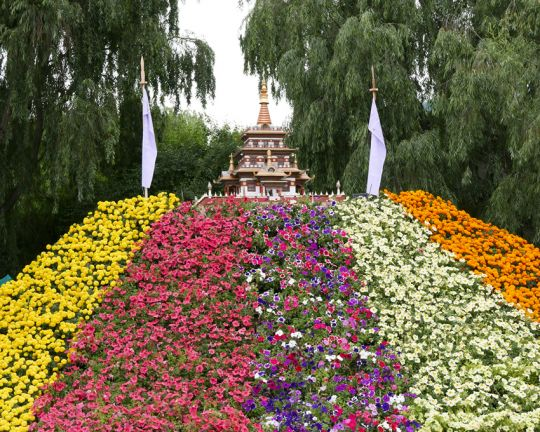 The annual flower exhibition in Paro, Bhutan, June 2016. Photo by Ven. Roger Kunsang.