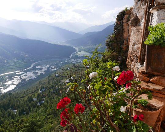 View of the Paro Valley from Drakarpo