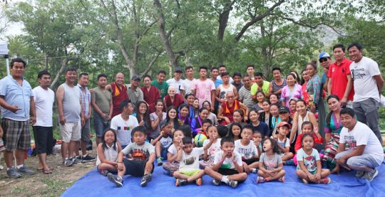 Group photo from the picnic at Bear Mountain State Park, New York, July 2016. Photo by Ven. Lobsang Sherab.
