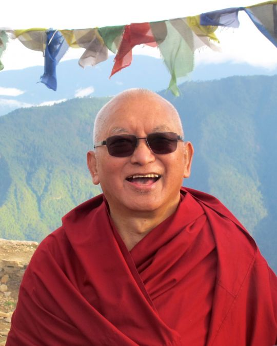 Lama Zopa Rinpoche in Bhutan, June 2016. Photo by Photo by  Damien van Effenterre.